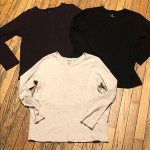 Tops - 3 Long Sleeve T's Tops XL SOFT